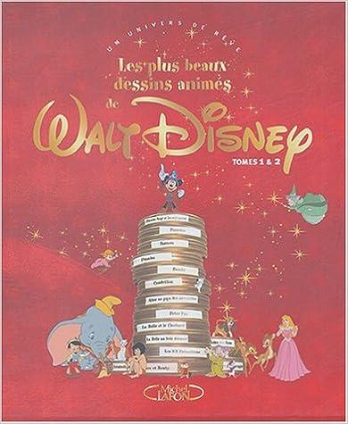 Téléchargement Les plus beaux dessins animés de Walt Disney Coffret 2 volumes : Tome 1 ; Tome 2 pdf epub