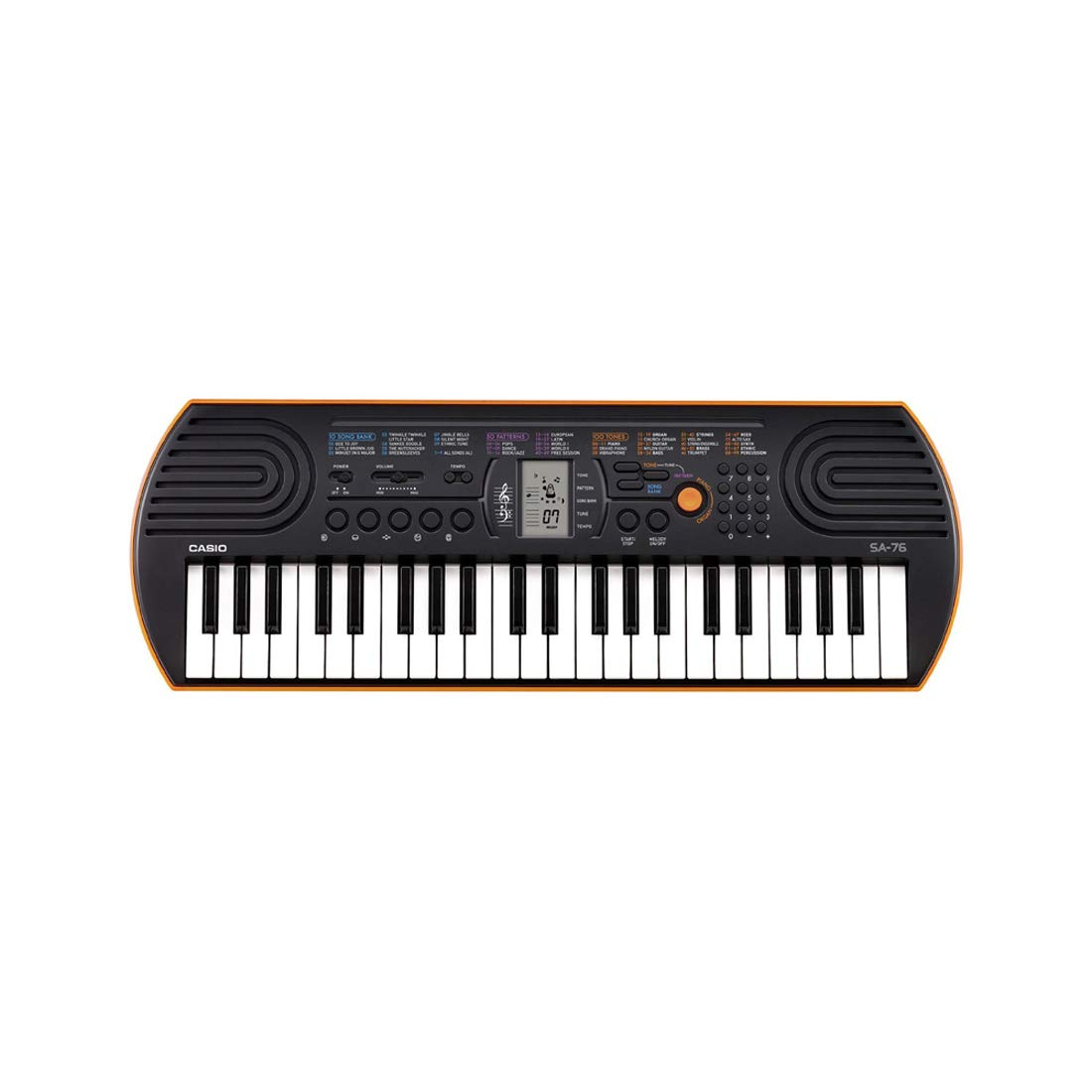 Amazon.com: Casio SA76 44 Keys 100 Tones with World Tour Power Supply: Musical Instruments