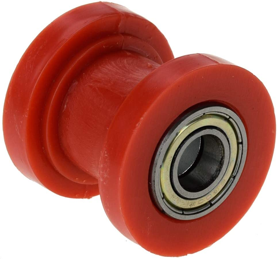 HIAORS Red 10mm Chain Roller Pulley Tensioner Wheel Guide Per for 125cc 140cc 160cc SSR XR125 CRF50 KLX110 Pitster Pit Dirt Bike Parts