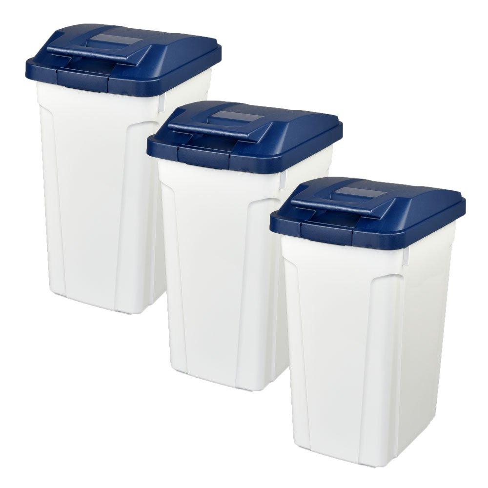 ASVEL ハンドルペール 35L 3個セット ゴミ箱 ごみ箱 ダストボックス おしゃれ ふた付き アスベル (ブルー×ブルー×ブルー) B07479TB8N ブルー×ブルー×ブルー ブルー×ブルー×ブルー