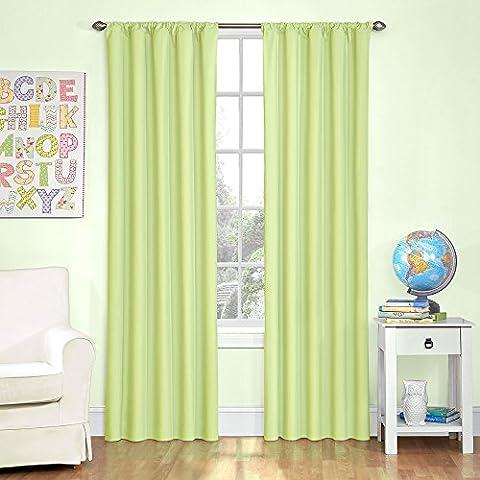 Eclipse Kids Microfiber Room Darkening Window Curtain Panel, 42 by 63-Inch, Green (Eclipse Kids 63)