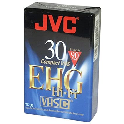 Amazon com : JVC TC30EHGB 30 Minute Blank VHS-C Tape : Blank Data