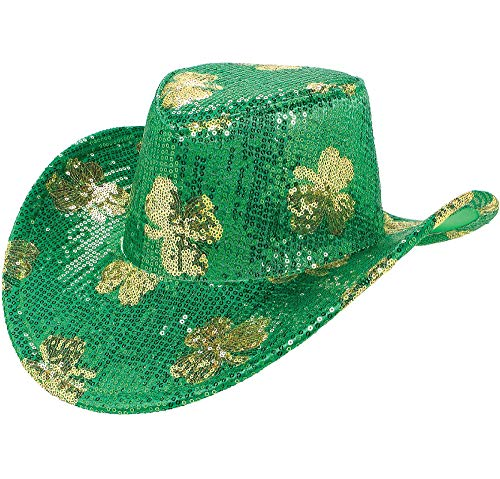 St. Patrick's Day Green Cowboy Hat