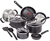 induction 12 pan - T-fal C515SC Professional Total Nonstick Thermo-Spot Heat Indicator Induction Base Cookware Set, 12-Piece, Black