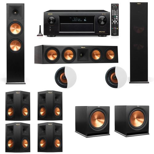 dolby-atmos-722-klipsch-rp-280f-tower-speakers-r115sw-with-denon-avr-x6300h