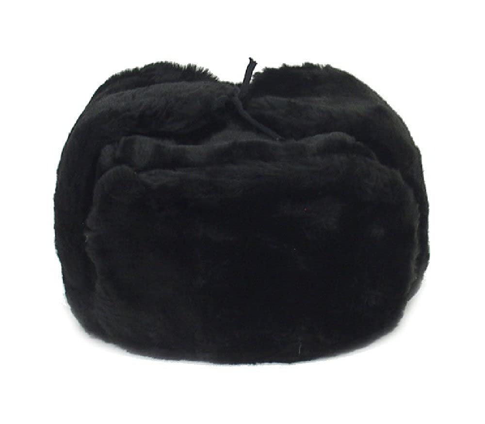 Russian Winter Hat *Shapka-Ushanka*BLACK*Size L (metric 60) RussianOrnaments