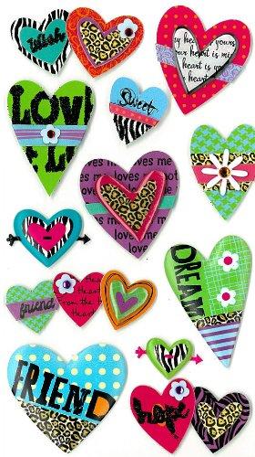 Jolee's Boutique Dimensional Stickers, Fun (Dimensional Heart)