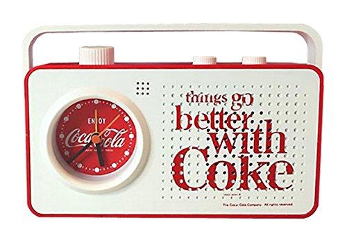 코카콜라 라디오 백색 12.5 × 18.5 × 6cm / Coca-Cola Radio White 12.5×18.5×6cm