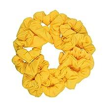 Set of 12 Scrunchies - Yellow