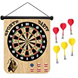 Sloth Riding a Bicycle Eating Pizza Magnetic Dart Board Safe Precision Darts, Best Gift for Boys & Girls, Great Classic Game the Whole Family can Enjoy Play in Teams or Solo, Simple & Easy to Install