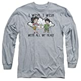 Dragon Tales Mens I Wish With All My Heart Long Sleeve T-Shirt