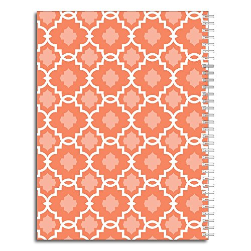 Modern Floral Personalized Monogram Spiral Notebook/Journal, 120 College Ruled or Checklist Pages, durable laminated cover, and wire-o spiral. 8.5x11 | 5.5x8.5 | Made in the USA Photo #2