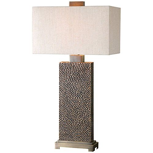Kinder Metal Table Lamp - Uttermost 26938-1 Canfield Coffee Table Lamp, Bronze