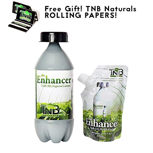 TNB Naturals CO2 Bottle and Refill with Free TNB Rolling Papers