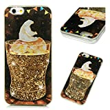iPhone 6S Plus Case, Clear Liquid Glitter Case Cute Cartoon Painting Bling Shiny Glitter Sparkle Flowing Moving Hearts Shockproof Soft TPU Bumper Frame PC Shell Ultral Slim Cover for iPhone 6 Plus