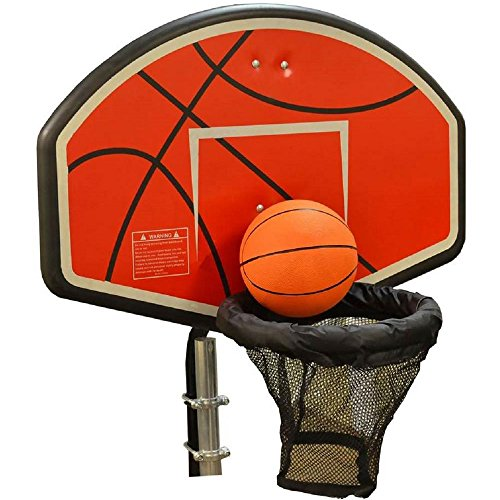 JumpKing Trampoline Basketball Hoop with Attachment and Inflatable Basketball by JumpKing