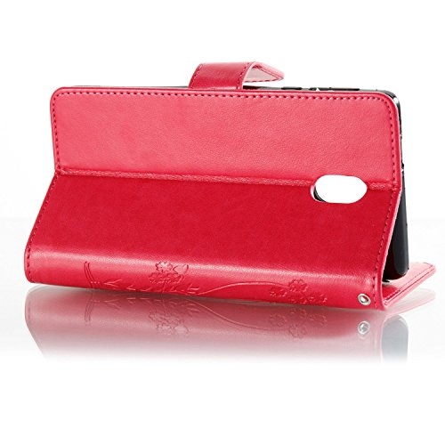 aad6a8f058 Flip Pinlu® Rossa Del Coperture Colorata Telefono K3 Erba Portafoglio  Qualità Pelle Luminoso Per Lg ...