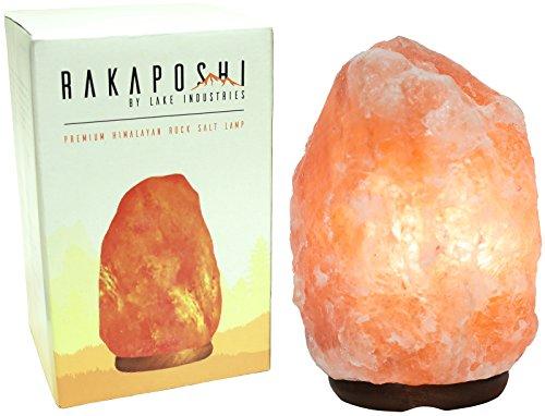 Rakaposhi Natural Himalayan Salt Rock Lamp w/ 6' UL Listed Dimmer Switch - 9+ lbs