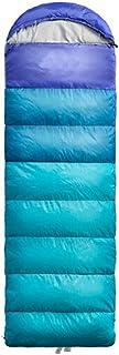 8haowenju Sacco a Pelo da Campeggio per Adulti, Busta Portatile e Leggera, Blu, Verde, Arancione. Dimensioni: 86,6 * 29,5 (Pollici)