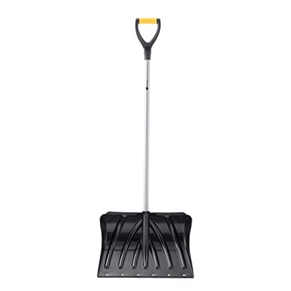 ORIENTOOLS Snow Pusher with D-Grip Handle and Foot Plate, The Shovel  Perfect for Shoveling or Pushing Snow, Soils and Grains (19