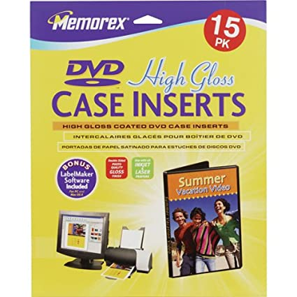 Amazon.com: Memorex 15PK GLOSS DVD CASE INSERTS (32020714 ...