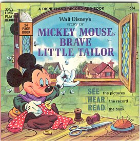 Mickey Mouse, Brave Little Tailor (Disneyland Record and Book, #334)