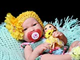 """Reborn baby girl anatomically correct Washable Berenguer Realistic 17"""" inches Real Soft Vinyl LifeLike Pacifier Doll with accessories"""