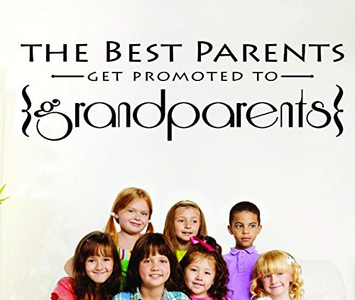 Black 16 x 24 Design with Vinyl RAD 702 2 The Best Parents Get Promoted to Grandparents Grandmother Grandfather Grandma Grandpa Vinyl Wall Decal