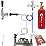 Kegco BF SHCK-5T Standard Homebrew Kegerator Conversion Kit with 5 lb Co2 Tank, Chrome