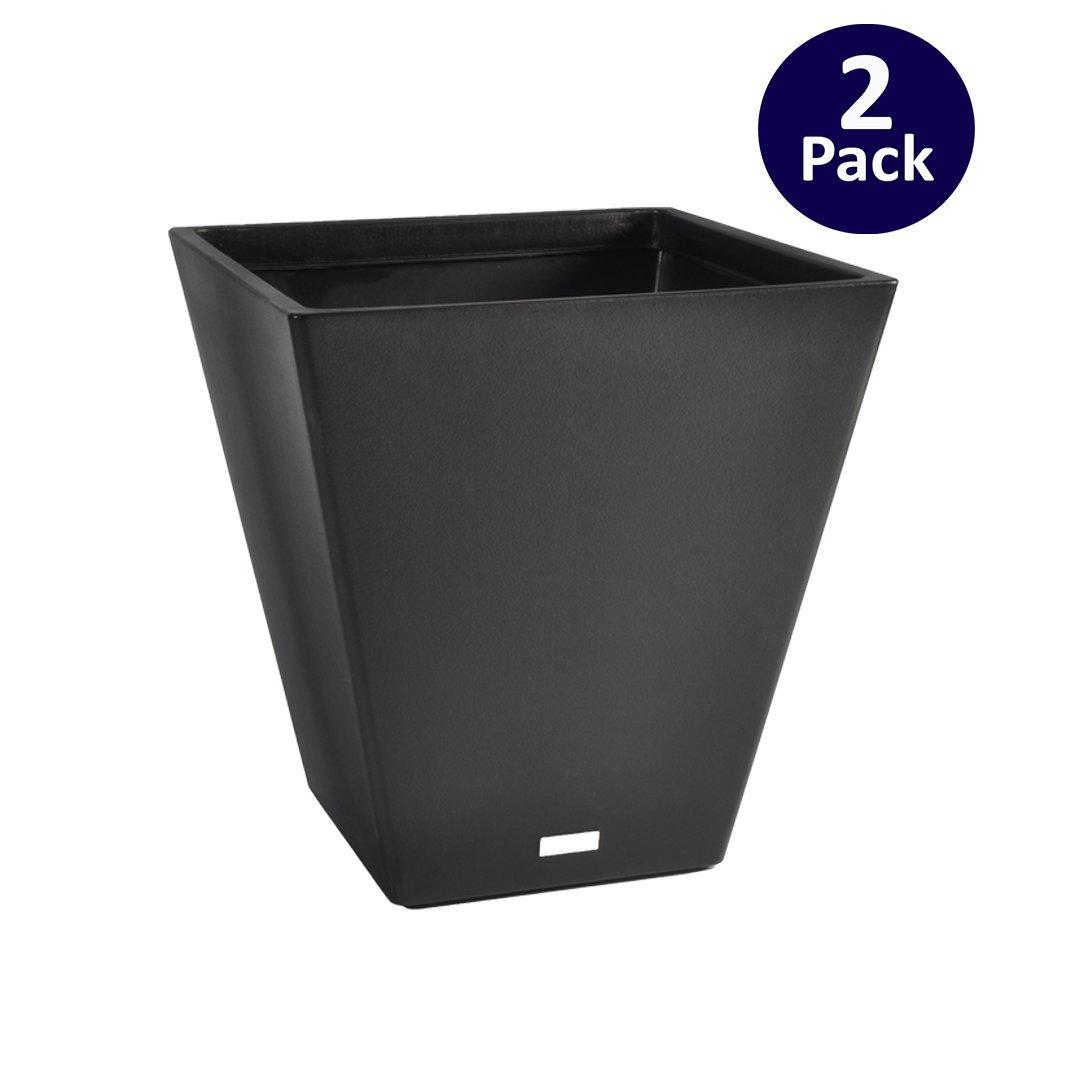 Veradek V-Resin Taper Short Planter - Black - 22 in.- 2 pack by Veradek