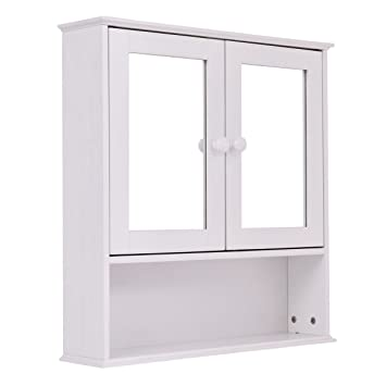 amazon com colibrox new bathroom wall cabinet double mirror door rh amazon com