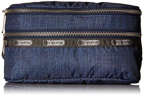 LeSportsac Modern Double Zip Belt Waist Pack, True Navy Denim, One Size
