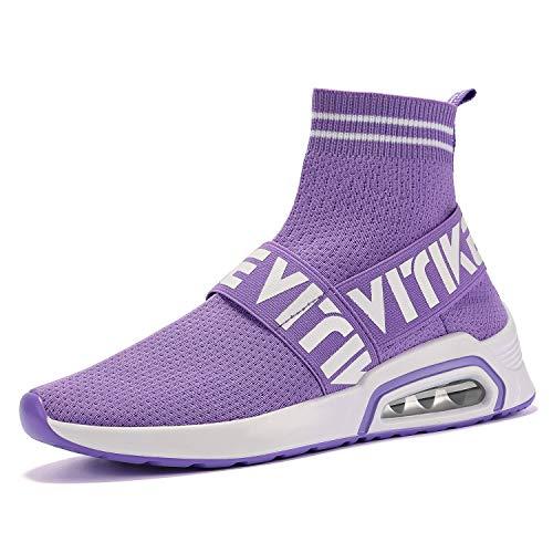 bc36b83a77 Scarpe Ragazze Casual Da Sportive Lacci Donna Calzino All'aperto Ginnastica  viola Sneakers No Interior 2 SqRIwf5