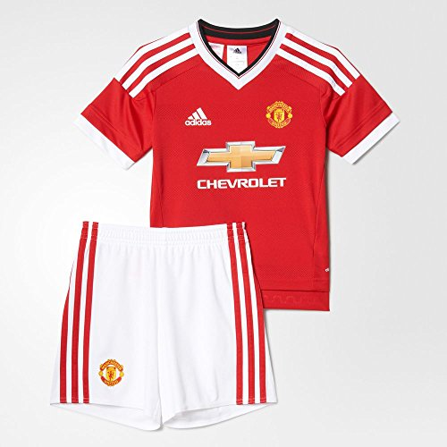Adidas Mini Mesh Shorts - Adidas 2015/16 Manchester United FC Home Mini Kit [REARED] (2XS)