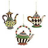 MacKenzie-Childs Teacup Ornaments - Set of 3