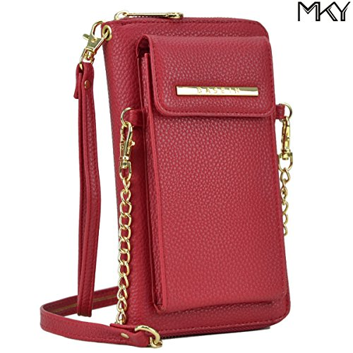 Cellphone Wallet Smartphone Pouch Clutch Purse Crossbody Shoulder Bag Wristlet by MKY