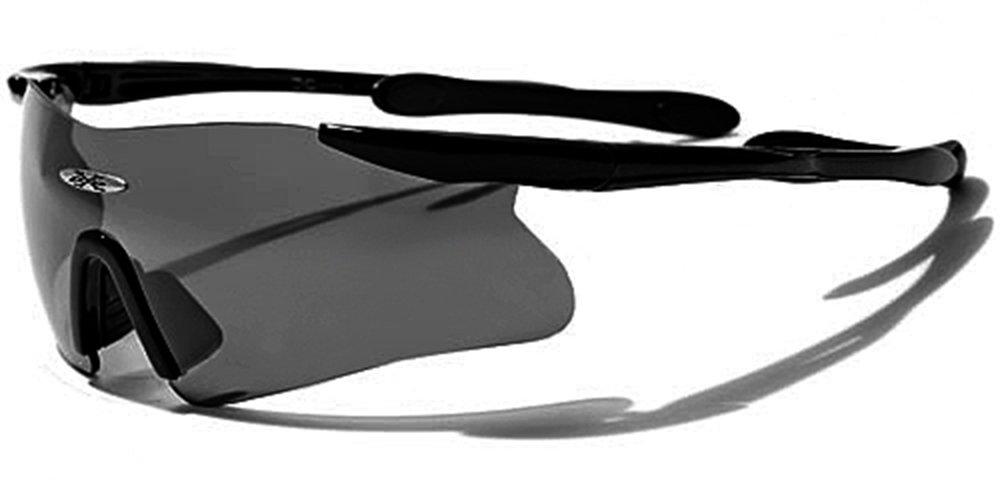 X-Loop Sonnenbrillen - Sport - Radfahren - Skifahren - Laufen - Driving - Motorradfahrer / Mod. 3555 Schwarz / One Size Adult / 100% UV400 Schutz