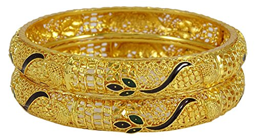 Banithani Ethnic 18k Goldplated Kada Bracelet Indian Wedding Women Bangle Set Jewelry