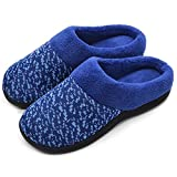 Wishcotton Women's Slip On Knit Memory Foam Slippers French Terry Lining Indoor/Outdoor House Shoes