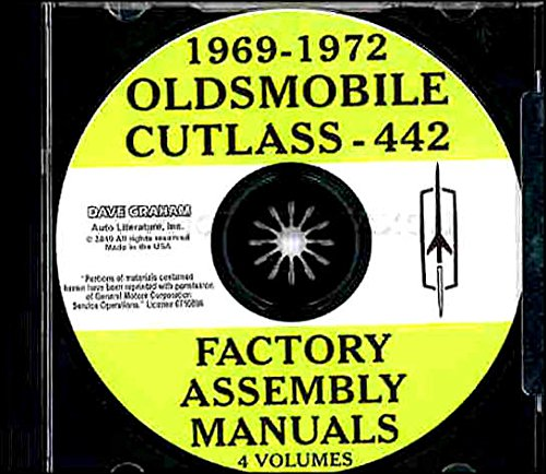 COMPLETE & UNABRIDGED 1969 1970 1971 1972 OLDSMOBILE CUTLASS, 442 & F85 FACTORY ASSEMBLY INSTRUCTION MANUAL CD IN 4 VOLUMES - COVERING Standard, Supreme, Sedan, Coupe, Convertible and Station Wagon vehicles .