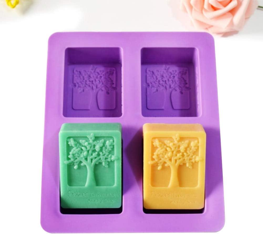 MHwan Stampi per Saponette Stampi per Sapone in Silicone 2 Pezzi di Stampo per Sapone Fatto a Mano Stampo in Silicone Rettangolare Riutilizzabile per Torta al Cioccolato e Crea Il Tuo Sapone