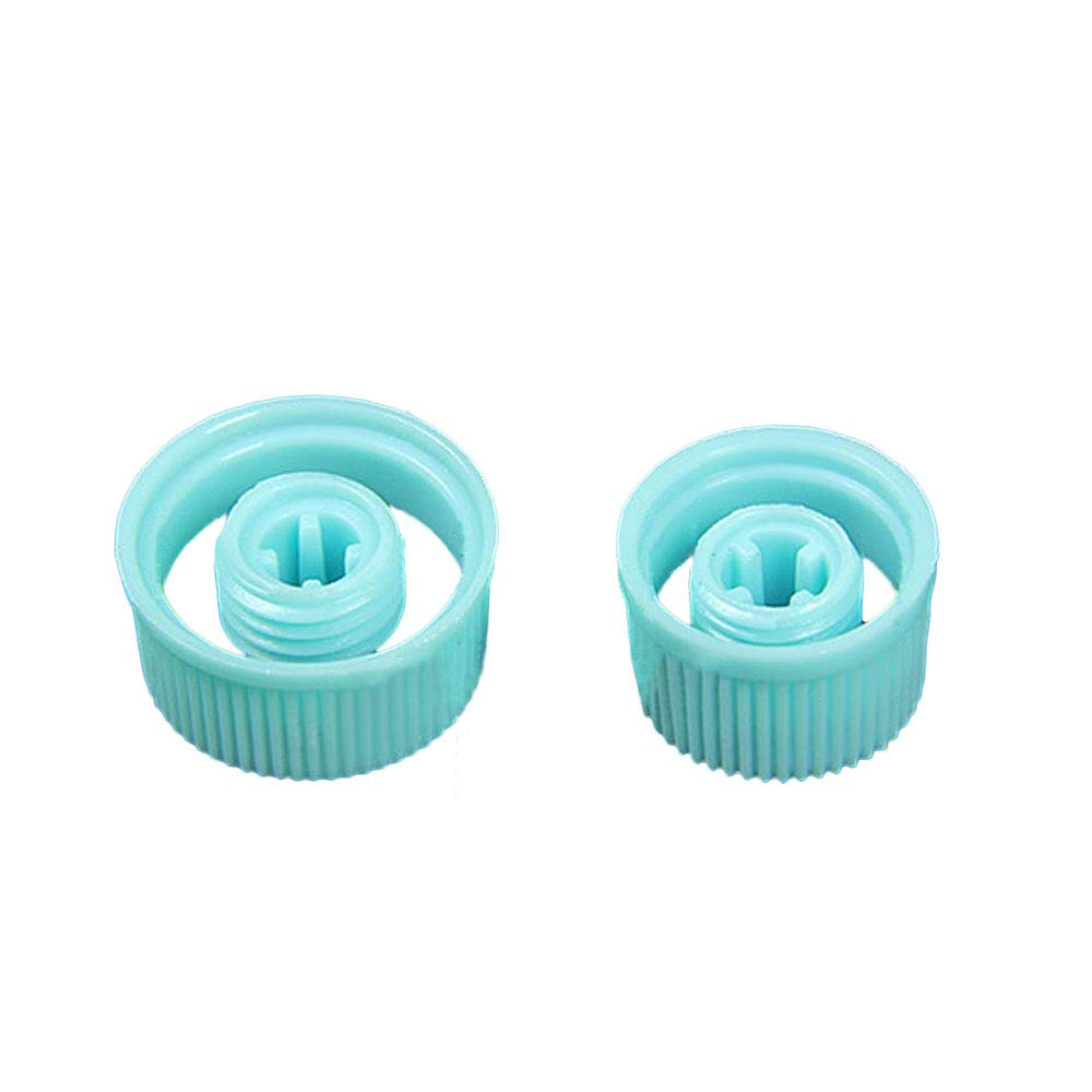 Hanbaili Car Air Conditioning Pipe A/C Service Port Valve Dust Cap Cover High/Low 1Pair
