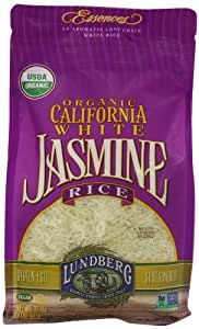 Lundberg Organic California White Jasmine Rice, 32 Ounce