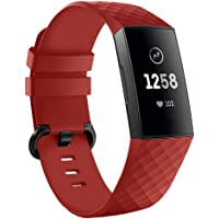 Kmasic Compatibel met Charge 3 armband, siliconen vervanging, verstelbare sportarmband, zachte armband voor Charge 3…