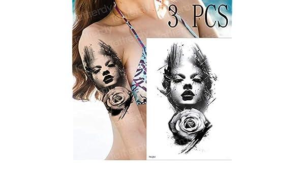 Handaxian 3 Piezas Pegatina Tatuaje Halloween Tatuaje diseño ...