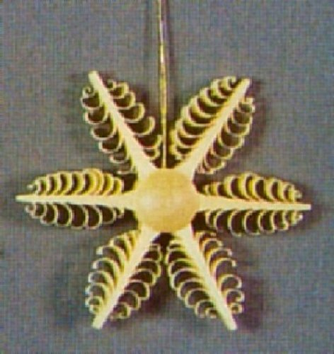 Pinnacle Peak Trading Company Wooden Star German Christmas Tree Ornament Decoration Handcrafted in Germany New
