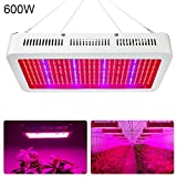 600W LED Grow Light, EnerEco Full Spectrum Plant Light for Indoor Plant,Plant Lamp with UV IR for Hydroponic Plant Veg Flower Greenhouse and Indoor Plant Flowering Growing AC 85-265V