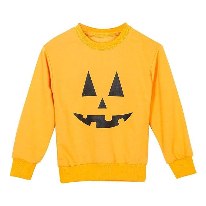 DEELIN Halloween Familia Ropa Madre Padres Camiseta Tops Camisas Ropa A Juego Manga Larga Estampado PatróN SuéTer Camiseta Estilo para NiñOs + Mamá: ...