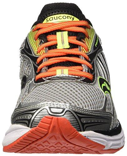 Saucony Phoenix 8 - Entrenamiento y correr Hombre Multicolore (Grey/Orange/Citron)
