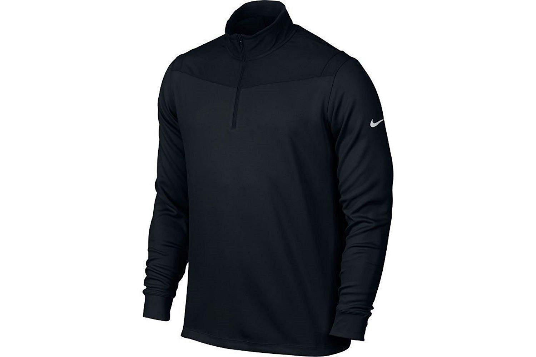 Nike Golf Dri-FIT 1/2-Zip Long Sleeve Men's Training Top 873171 010 (XXL) Black by Nike